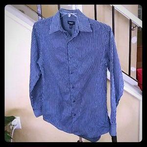 Van Heusen No Iron Blue & Black Pin Stripe Shirt